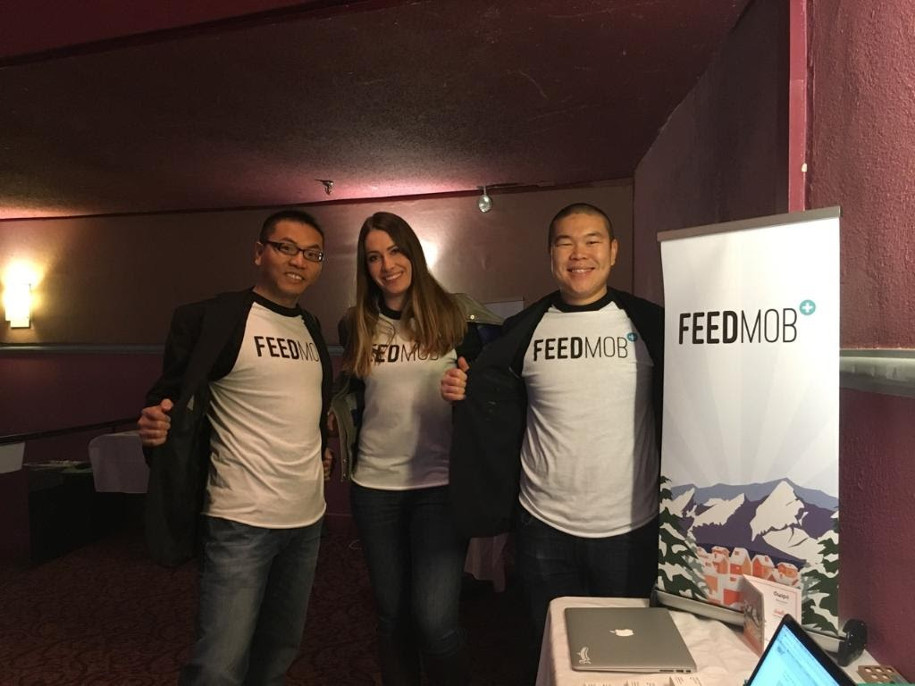 Co-founders of FeedMob starting the company in New York January 2016